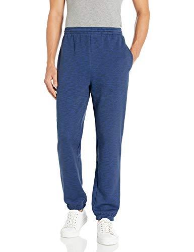 Amazon Essentials Closed Bottom Fleece Pant Unterhose, Navy Space-Dye, Large