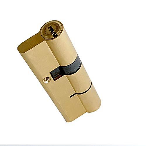 Cilindro de cerradura de puerta de entrada de seguridad de latón con llave de doble cara de nivel C, barra de acero inoxidable mejorada, reemplazo de cerradura de llave