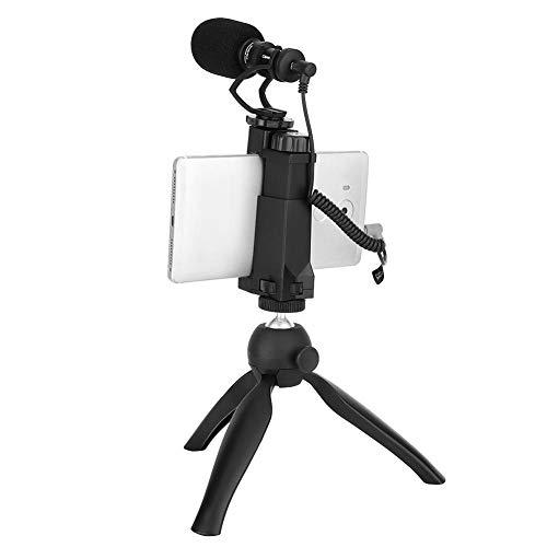 Mugast CVM-VM10-K2 Flexibele statief, Mini Metalen Smartphone Statief met Video Rig Filmmaker Audio Microfoon, Handheld Klem en Volledige Video Capture Functie voor Betere Shooting Experience