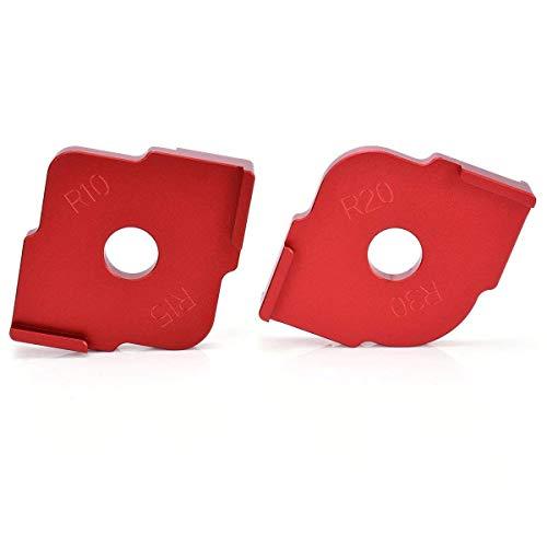 Aluminum Alloy Radius Jig Router Templates, Radius Quick-Jig Router Bit Templates For Routing Rounded Corners R10 R15 R20 R30, Set of 2 0.625' Radius Rounded Corners