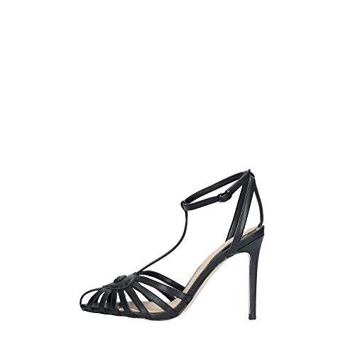 Guess Scarpe Sandalo con Tacco Modello cicada Pelle Nero Donna DS20GU73
