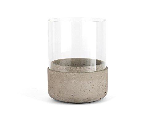 Zilverstad Windlicht Solido, groß, Beton, Grau, 16.5 x 16.5 x 21.5 cm