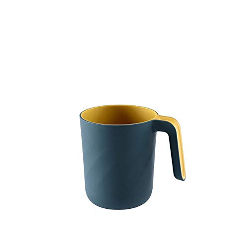 LLAAIT Badkamer Tandenborstel Cup Tandpasta Houder Straw Cup Drinkende Was Gorgelbeker Badkamer Accessoires, Donker Blauw