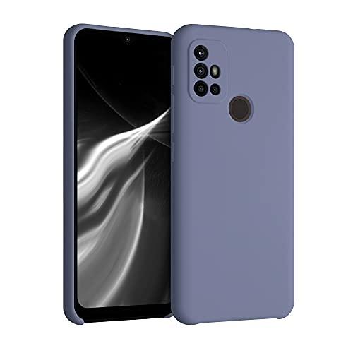 kwmobile Funda Compatible con Motorola Moto G30 / Moto G10 - Carcasa de TPU para móvil - Cover Trasero en Lila Opaco