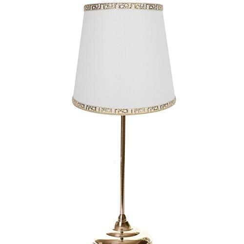 Abażur, piękny beżowy złoty drut klosza lampy, odporny na ścieranie żyrandol do kinkietów (biały jedwabny wzór)