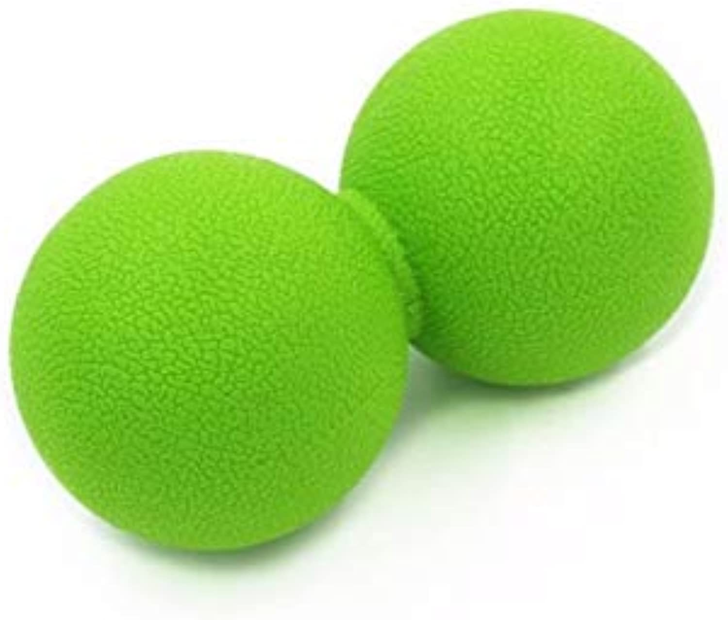CUSHY Ma Ball Women Lacroe Yoga Mobility Myofacial Trigger Point Releae Body Mucle Relexation Ball Peanut hape  Light Green