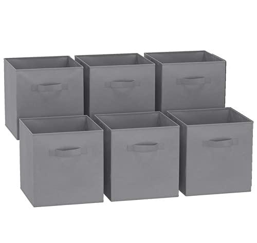 GREATOOL Caja de Almacenaje Plegable , Pack 6 Unidades, 31x31x31cm,Cajas organizadoras en...