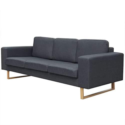 vidaXL Sofa 3 Sitzer Polstersofa Stoffsofa Loungesofa Couch Wohnzimmer Möbel