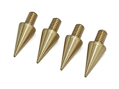 PrecisionGeek - M4 8mm dia BRASS Speaker Spikes - Set of 4 pcs from Maad Precision Engineering
