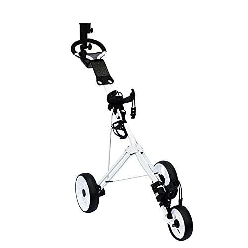 GYN Carrito de golf con 3 ruedas plegable ligero Golf Club Push...