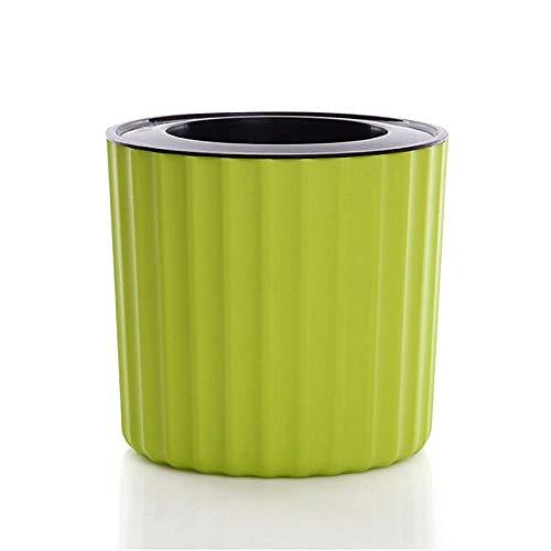 Pot de fleurs auto-arrosage - Absorption d'eau automatique - Pour intérieur, bureau, bureau - Vert 100 Vert