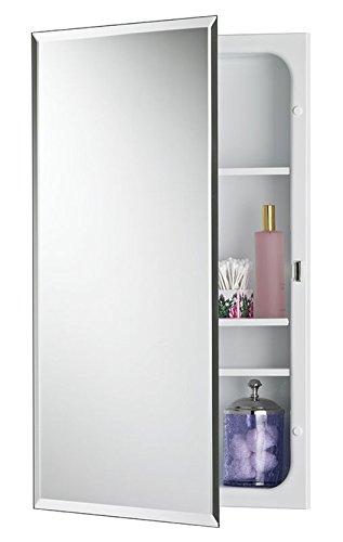 """Jensen 1459MODX Bevel Mirror Medicine Cabinet, 16"""" x 26"""""""