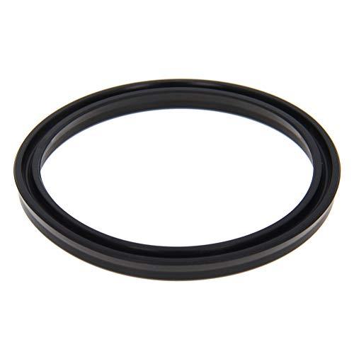 Othmro Hydraulic Seal Piston Shaft USH Oil Sealing O-Ring 73mm x 63mm x 6mm Nitrile Rubber Black 1pcs