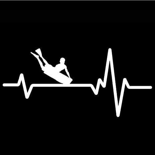 Bbdyhyrqcd 3 Piezas Pegatinas de coche-17 CM * 7,9 CM Tabla de Cuerpo propensa a Surfear Latido del corazón Pegatina de Vinilo para Coche
