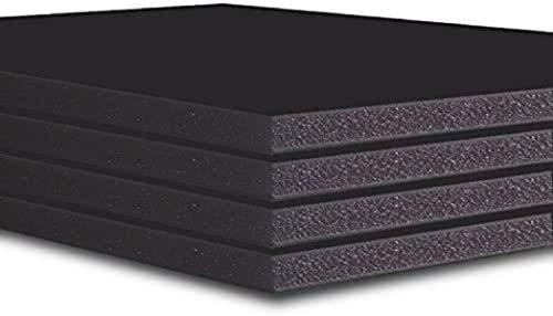 Tablero de espuma 5 mm, negro, 10 hojas, A4, A3, A2, A1, A0, 40 x 60, 48 x 96 A4 negro