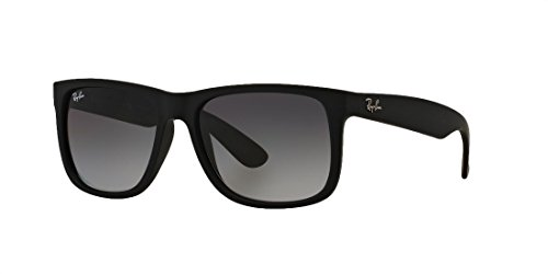 Ray-Ban Justin New Sunglasses (54 mm, Matte Black Frame Black Lens)