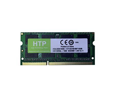 HTP M3LSO81600 / CT102464BF160B - Memoria DDR3L de 8 GB (1600 MT/s, 1600 MHz, PC3L-12800, SODIMM, 204 pines)