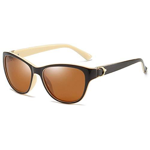 Gafas de sol deportivas, gafas de sol cuadradas polarizadas Uv400 retro marca gafas de sol vintage negro espejo conducción gafas de sol, Té blanco cremoso, Talla única