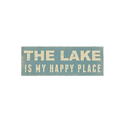 Young's Wood The Lake Box Sign, 12-Inch