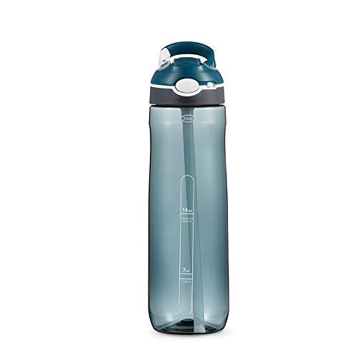 MSNLY Kreative Neue Outdoor-Hakengriff-Sprungdüse mit Verriegelungsschlüssel Kunststoff-Sportflasche mit großem Fassungsvermögen