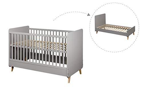 QU-AX Lit bébé évolutif Loft 70x140