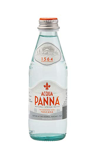 Acqua Panna Still Natural Spring Water in a Glass Bottle of 250ml/8.45 Fl.oz -Case of 24
