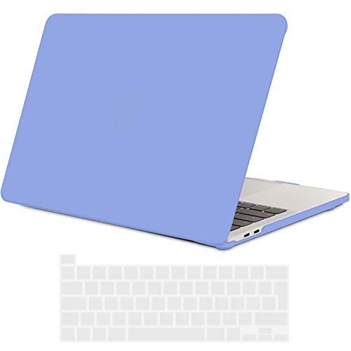 TECOOL MacBook Pro 13 inch Case 2020 (Model: A2338 M1 / A2289 / A2251), Plastic Protective Hard Shell Case Cover and EU Keyboard Cover for Apple New MacBook Pro 13 with Touch Bar - Serenity Blue