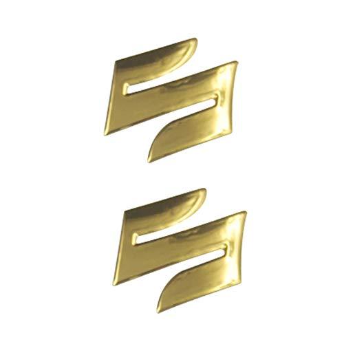 2pcs / Set S Logotipo de la motocicleta 3D Body Styling tronco Decoración Adhesivos Etiqueta for Suzuki (Color : Golden)