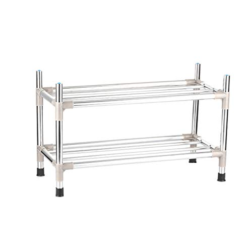 Schoenenrek Reinforced Stainless Steel Multi Layer Household eenvoudige montage dragende sterk en duurzaam (Size : 2-L-43cm)