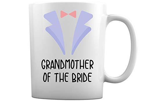 Hochzeitskaffeetassen für die ganze Familie   Wählen Sie aus über 30 Hochzeitsbecher-Designs in weißen Kaffeetassen für Braut, Bräutigam, Trauzeuge, Brautjungfer, Trauzeugin + More (Großmutter der Bra