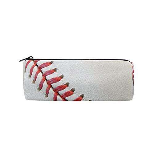 HaJie - Estuche para lápices, diseño de béisbol y encaje, con cremallera, organizador de papelería, para niñas, niños, mujeres y hombres