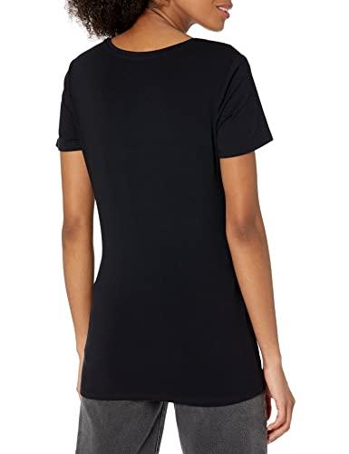 Amazon Essentials 2-Pack Short-Sleeve Crewneck Solid T-Shirt Camiseta, Negro (Black/White), Medium (Talla del fabricante:):)