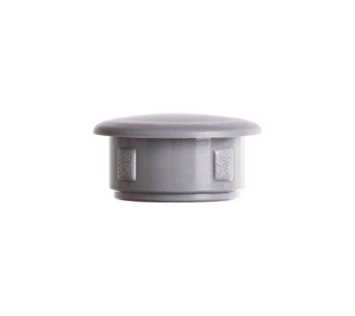 Abdeckstopfen 15x12 mm Grau | 50 Stück | Blindstopfen Kunststoff Verschlusskappe