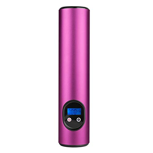 Wyfqb Led-licht LCD digitale luchtpomp 12V I20PSI, mini-autoluchtpomp, elektrische compressor, draagbare bandenpomp met ingebouwde 2000 mAh accu voor fiets, motorfiets, ballen