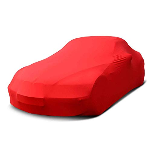 Autoplane passend für BMW 3er Cabriolet E30 Premium Indoor Plane formanpassend atmungsaktiv aus Stoff in Rot
