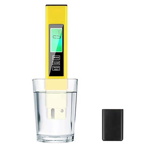 TDS Meter Digital Water Tester,AMMZO Professional Water Meter,4 in 1, PPM Meter EC Meter,Temperature, for Drinking Water Home Aquarium and More.(Yellow)