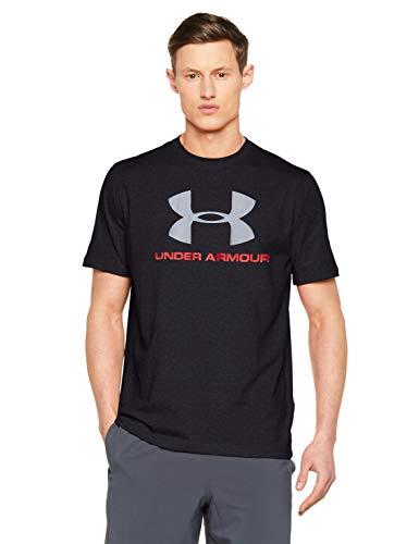 Under Armour Cc Sportstyle Logo Camiseta de Manga Corta, Hombre, Azul (Midnight Navy/Red), M