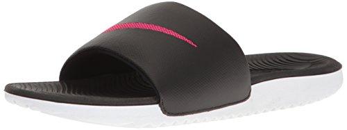 NIKE Women's Kawa Slide Sandal, Black/Vivid Pink, 11 B(M) US