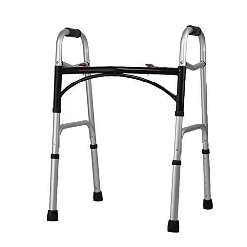 LHNLY-Rollatoren Bariatrischer Schwerlast Gehwagen für Senioren, Erwachsene Gehhilfe Walker, Faltbare Gehgestell Gehbock, Stockhalter Spazierstock Laufhilfe Höhe verstellbar