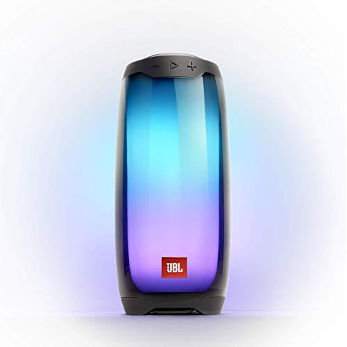 JBL Pulse 4 Waterproof Portable Bluetooth Speaker with Light Show - Black (Renewed)