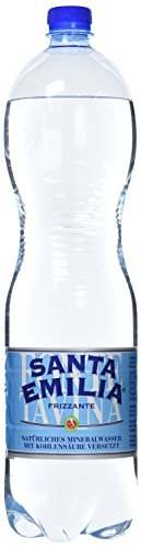 Santa Emilia Frizzante Italienisches Mineralwasser Pet, 6er Pack, Einweg (6 x 1.5 l)