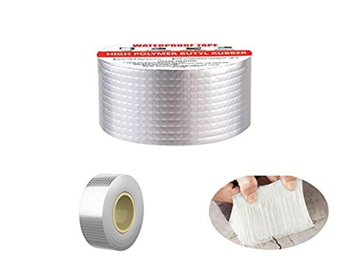 Alozon 50mm*5m Nastro resistente all'acqua,cintura di mantenimento della lampada, cintura di alta temperatura, parete esterna, per perdite sul tetto, fessurazioni della superficie (50mm)