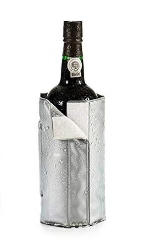 Anik-Shop Gel FLASCHENKÜHLER Grau Kühlmanschette Champagnerkühler Weinkühler Sekt Wein 79