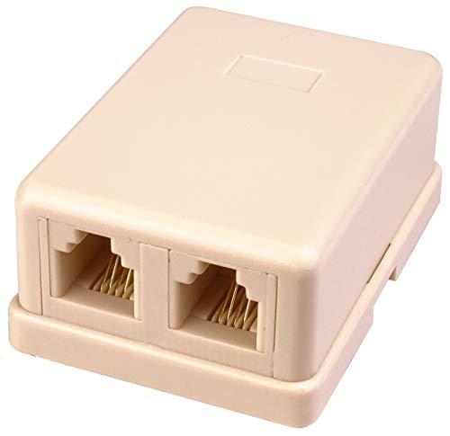 Premium Cord - Enchufe para teléfono (2 Conectores RJ11, Autoadhesivo)