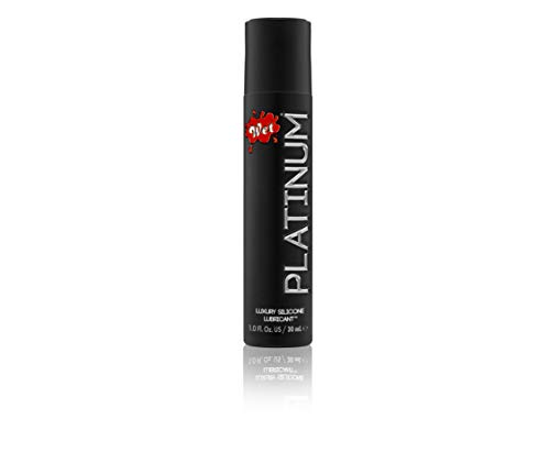 Wet Platinum Lube - Premium Silicone Based Personal Lubricant, 1 Ounce