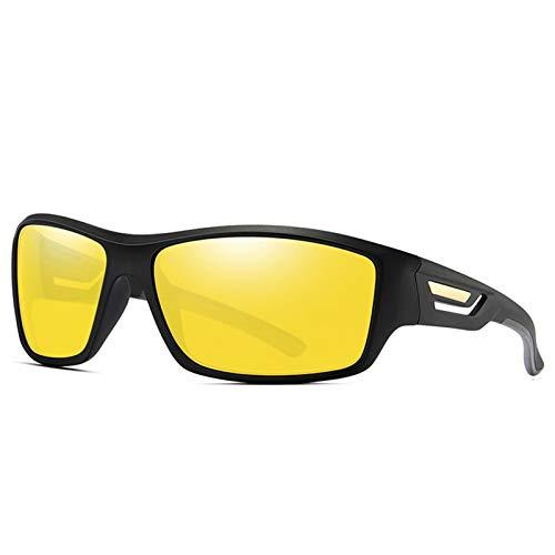 SSN Equipo De Conducción Deportiva Gafas De Sol Gafas De Sol Hombres Polarizados HD De Moda HD De Moda. (Color : Amarillo)