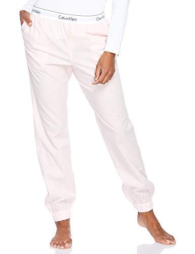 Calvin Klein Damen Jogger Schlafanzughose, Rosa (Nymph'S Heather Phy), 38 (Herstellergröße: M)