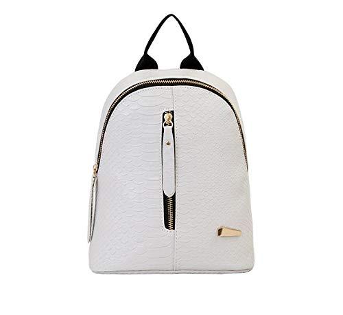 Angle-w diseño Elegante, Viajes Sencillos, Bolso para Mujeres Mochila Mochila PU Cuero Rucksack Mochila Viajes Impermeable Dillaf Schour School Bags Señora Vamos mas lejos (Color : 2, Size : A)