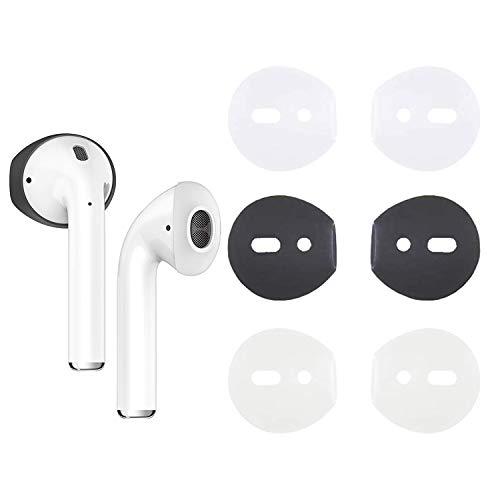 sciuU Fit in Case Schutzhülle Kompatibel mit Airpods, [3 Paare] Anti-Rutsch-Pads, Kopfhörer Schutzhülle flexibel aus weichem Gummi-Silikon Kompatibel mit Apple AirPods 1 & 2, Gruppe A