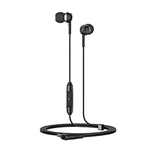 Sennheiser CX 80S In-Ear-Kopfhörer mit Inline-EIN-Knopf-Fernbedienung - Schwarz